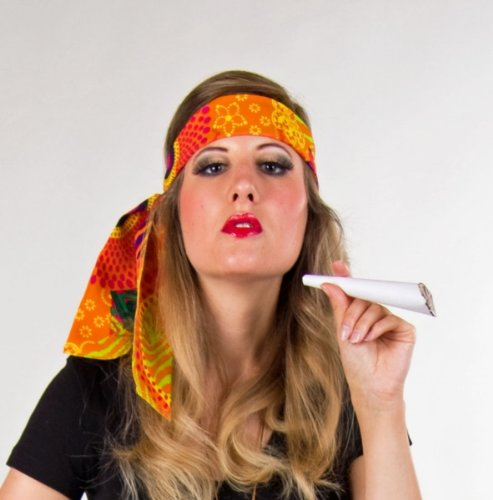 Festartikel Müller Karneval Kostüm Zubehör Hippie Haarband zu Fasching Mottoparty