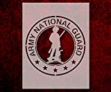 United States US Army National Guard Minuteman Stencil 8.5 x 11 Inches (837)