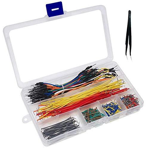 Breadboard Jumper Wires Kit, U Shape Jumper Ponticelli 14 Dimensioni, Solderless Flexible Breadboard Jumper Cables Maschio a Maschio, Pinzetta per Compatibile con Arduino e Raspberry