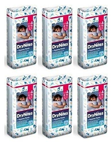 54 Pannolini a mutandina Huggies DryNites Jumbo Boy Pannolino Dry Nites 8-15