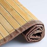 Set de 3 Alfombra Antideslizante, Alfombra de Madera de bambú de 58x40cm, Alfombrilla para Cocina baño Pasillo Repelente al Agua, marrón Claro
