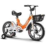 """Dsrgwe Bicicleta niño, Bicicletas niños, Vespa de Bicicletas, Bicicletas de aleación de magnesio niño de Capacitación for 3-10 años de Edad en tamaño 14"""" 16"""" 18"""" (Color : Orange, Size : 14 Inch)"""