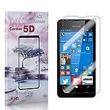 [1 Stück] Conber Panzerglas Schutzfolie für Microsoft Lumia 550, [Anti-Öl][Anti-Kratzen][Anti-Bläschen] 9H Festigkeit Panzerglasfolie Bildschirmschutz für Microsoft Lumia 550