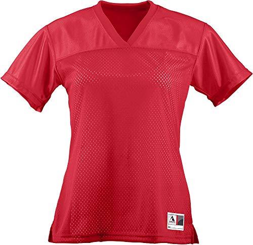 Augusta Sportswear girls Junior fit replica football tee, Red, Medium US