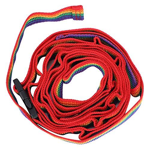 Qinlorgon Correa Colorida para Acampar, Cuerda Colgante Multifuncional Cuerda Colgante Ajustable, para Barbacoa, Otras Actividades, Acampada, Picnic al Aire Libre
