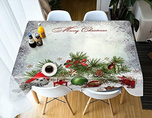 MinegRong Personnalisé Taille Table Couverture rectangulaire Imperméable Café 3D Nappe Partie Ronde Cabinet Couverture Fleur décorer Taie d'oreiller-Couleur 2,150 cm * 220 cm