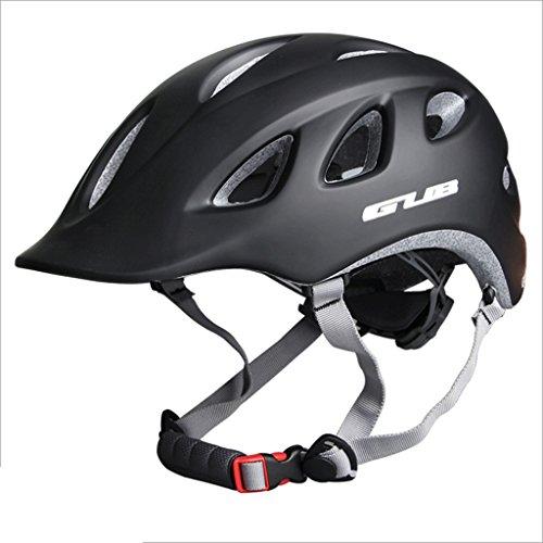 DGF Casque Intégré Casque Urbain Casque Professionnel Casque De Cyclisme Pour Hommes Et Femmes Montagne Vélo De Route Chapeau Réglable (Couleur : Black)