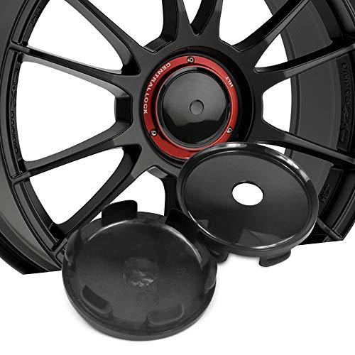 4pcs 68mm ABS Black Wheel Center Hub Caps for OZ Superturismo-LM/PCD 5-120 (excluding 7.5x17) Superturismo-Dakar/PCD 5-12