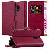 Cadorabo Book Case works with Nokia 6 2017 in WINE RED -