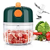 Electric Mini Chopper,Rechargeable Garlic Grinder Machine Wireless Grinding Fruit Small Mincer Kitchen Mincing with USB Charging Port Cordless Food Blender for Chili Onion Vegetable Nuts Meat(250ml)…