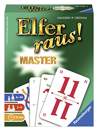Ravensburger Kartenspiele 20756 - Elfer raus! Master