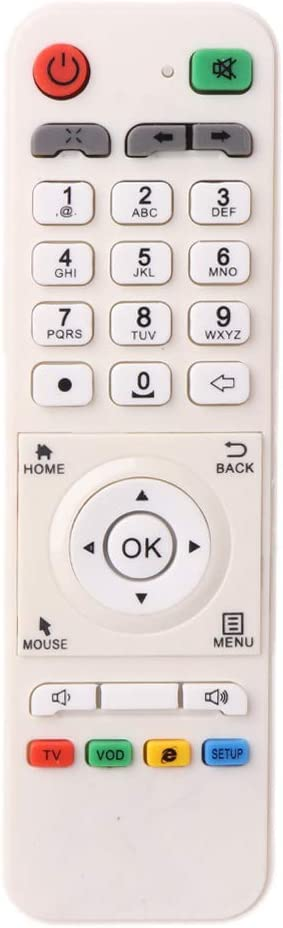 Harlotte White Remote Control Controller Replacement for LOOL Loolbox IPTV Box Great BEE IPTV and Model 5 OR 6 Arabic Box Accessories Remote Control Tv Remote Universal Tv Remote Smart Tv Remote