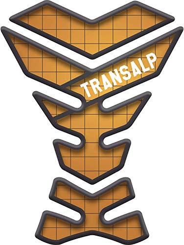 Tankpad Motorrad Draht Muster Tankschutz Polymer für Honda Transalp XL 650 v XL650 XL650v XL600v XL600 (Gold)