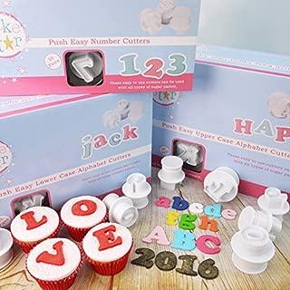 Cake Star Push Easy Upper & Lower Case Alphabet & Number Plunger Cutters by Cake Star Push Easy Plunger Cutters