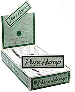 1 Pure Hemp 1 1/4 Tree Free Eco 100% Hemp Natural Gum Cigarette Rolling Papers Packs (50 Leaves/pack) + Beamer Smoke Sticker. For Legal Smoking Herbs, Rolling Tobacco, Cones, Herbal Mixes, Rollers,ryo