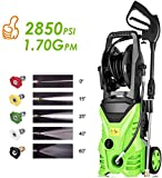 Homdox 28P50 Electric Pressure Power Washer 1.7GPM High Pressure Power Washer 1800W Machine Cleaner with Hose Reel, 5 Nozzles