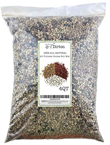Bonsai Soil Mix, All-Purpose Premium Sifted and Ready to Use Tree Potting Blend, Akadama, Red Lava, Japanese Pumice, & Charcoal Mix 4qt
