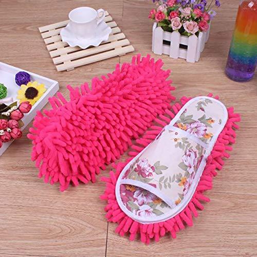 Mop Schuhe Mikrofaser Staub Mop Putzschuhe Hausschuhe Schuhe Multifunktionsboden Einfache Reinigung Überschuhe für Badezimmer Büro Küche Bodenreinigung Slippers