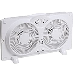 3 speed settings: the Avalon high velocity Twin reversible airflow window fan features 3 speed settings of low, medium and high. Select your comfort speed level with ease Max cool technology: this Twin fan features a built in thermostat with ranges f...