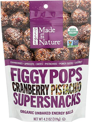 Made in Nature Figgy Pops Cranberry Pistachio, 4.2 oz