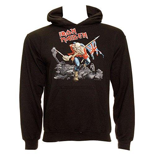 Sudadera capucha guerra Iron Maiden Negro - M