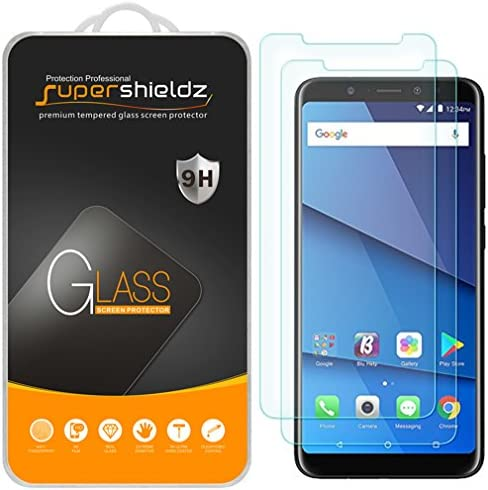 2 Pack Supershieldz for BLU Vivo XL3 Plus Tempered Glass Screen Protector Anti Scratch Bubble product image