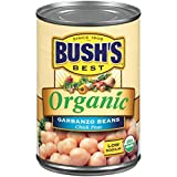 BUSH'S BEST Organic Garbanzo Beans Canned Beans, Organic Chick Peas, USDA Certified Organic, Source of Plant Based Protein and Fiber, Low Fat, Gluten Free (6)