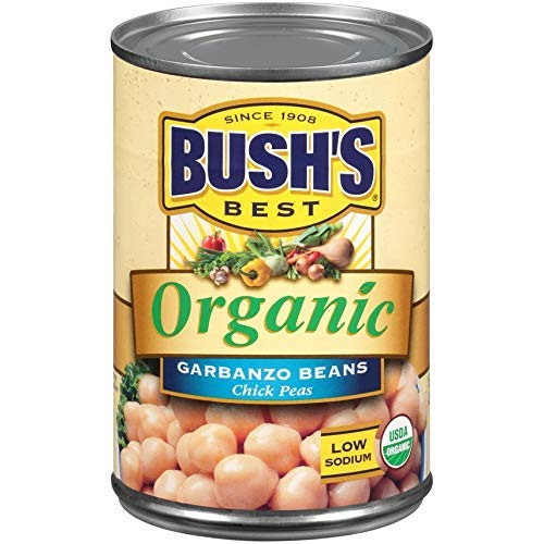 BUSH'S BEST Organic Garbanzo Beans, 15 Ounce Can (Pack of 12)
