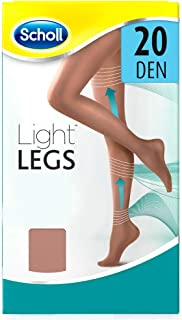 Scholl Light Legs Collant Donna Compressione Graduata 20 Den, S, Nude, 1 Paio