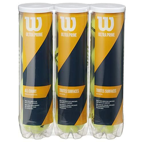 Wilson WRT119003 Ultra Prime Hard Tennis Ball, 4 Ball Can, 3 Pack