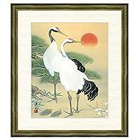 日本画 久米涼山 松竹梅鶴亀(しょうちくばい) F8 慶祝画 [g4-bt030-F8] インテリア