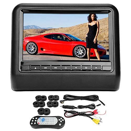 Roboraty 9 inch HD DVD auto externe hoofdsteun dvd-speler-monitor, ondersteuning van USB/SD/IR/FM/luidspreker/spel/HDMI/MHL, resolutie 800 × 480 × RGB zwart