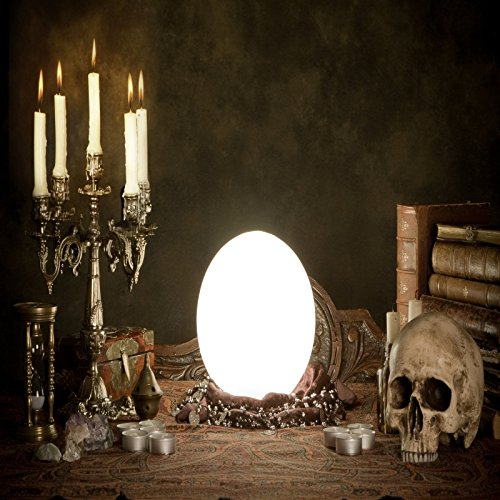 Baocicco 6x6ft Halloween Wizard Interior Decor Background Photography Background Witch Mirror Magic Book Terror Skull Candle Lights Gloomy Room Magic Potion Zombie Party Creepy Night