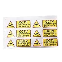 6x車cctv ステッカー デ カール記号セキュリティ監視警告通知カメラ 90 × 30 ミリメートル