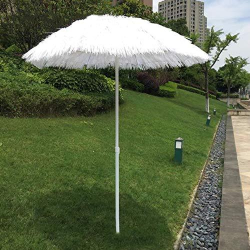Parasol LCYXM Ombrellone da Spiaggia Bianco Ombrellone Bianco 1,8 M Ombrellone da Giardino Ombrellone Ombrellone, Ombrello di Paglia Artificiale, Ombrellone Tondo con 8 Costole