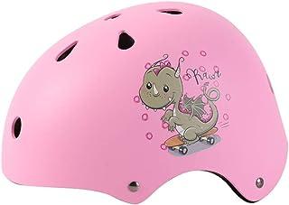 Child Balance Car Adjustable Helmet Boy Girl Roller Skate Skateboard Hard Hat Household Sports Riding Helmet ; (Color : Pink)