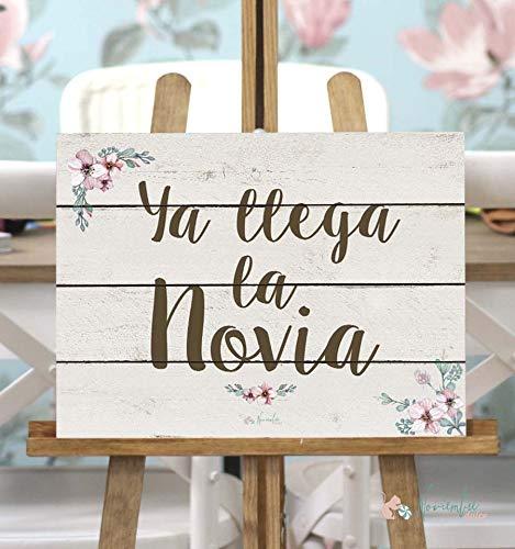 Noviembre Dulce Cartel de Boda Ya llega la Novia - Fondo Blanco