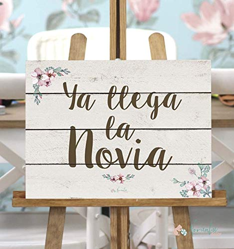 Noviembre Dulce Cartel de Boda Ya llega la Novia - Fondo