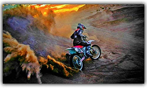 PQGHJ Christmas Mountain Motorcycle Jigsaw Puzzles Bike Competition Art 1000 Piece Adults Wooden Puzzle Adult Kids Childrens Boy Girl Toy