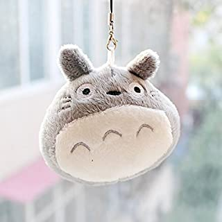 Cute Grey Totoro String Hanger Plush Keychain Accessory