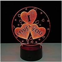 3Dイリュージョンナイトライト ロマンチックな結婚式 スマートタッチ キッズ3DLEDナイトライトファッション7色段階的に変化するスマートタッチスイッチUSBテーブルランプホリデークリスマスおもちゃギフト家の装飾