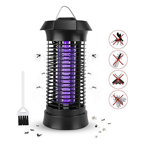 Nasjac Mosquito Killer Lampe, elektrische Bug Zapper Fliegenschutzmittel Insektenfalle Fliegenmörder Lampe Nachtlicht für Schlafzimmer Küche Büro Patio Camping Angeln (Schwarz EU Plug)