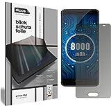 dipos I Blickschutzfolie matt kompatibel mit Oukitel K8000 Sichtschutz-Folie Bildschirm-Schutzfolie Privacy-Filter