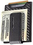 Secure Slim Carbon Fiber Money Clip Wallet RFID EDC Front Pocket Card...