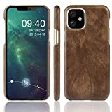 KIOKIOIPO-N Mode Stoß- Litchi Texture PC + PU-Kasten for Apple iPhone XI 2019 (Color : Brown)