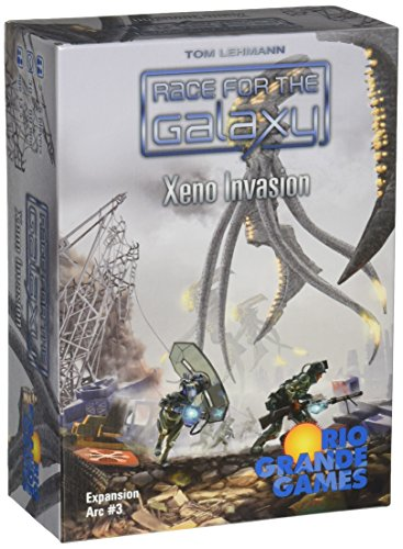 Rio Grande Games RGG511 RIO511 Xeno Invasion Race for The Galaxy Expansion Card Game, Multicolor
