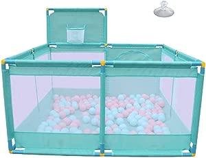 LXDDP Baby Playard Portable Playard with Basket Box Baby Playpen Mattress Nursury Center Play Yard Anti-Collision Playpen