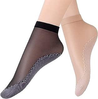 Women's 10-20 Pairs Silky Thin Nylon Short Ankle Socks