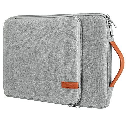 "MoKo Funda Ordenador Portátil 13-13.3 Pulgada, Compatible con MacBook Air 13-Inch Retina, MacBook Pro 13"", iPad Pro 12.9, Chromebook, Maletín de Bolsa Impermeable con Asa, Gris Claro"
