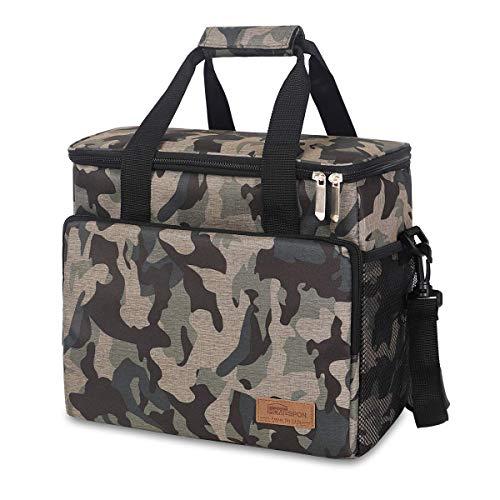 HOMESPON Sac Isotherme Cooler Bag 16,5L Sac de Pique-Nique Thermique Étanche avec Bandoulière Réglable pour École, Travail, Plage, Pique-Nique et Camping